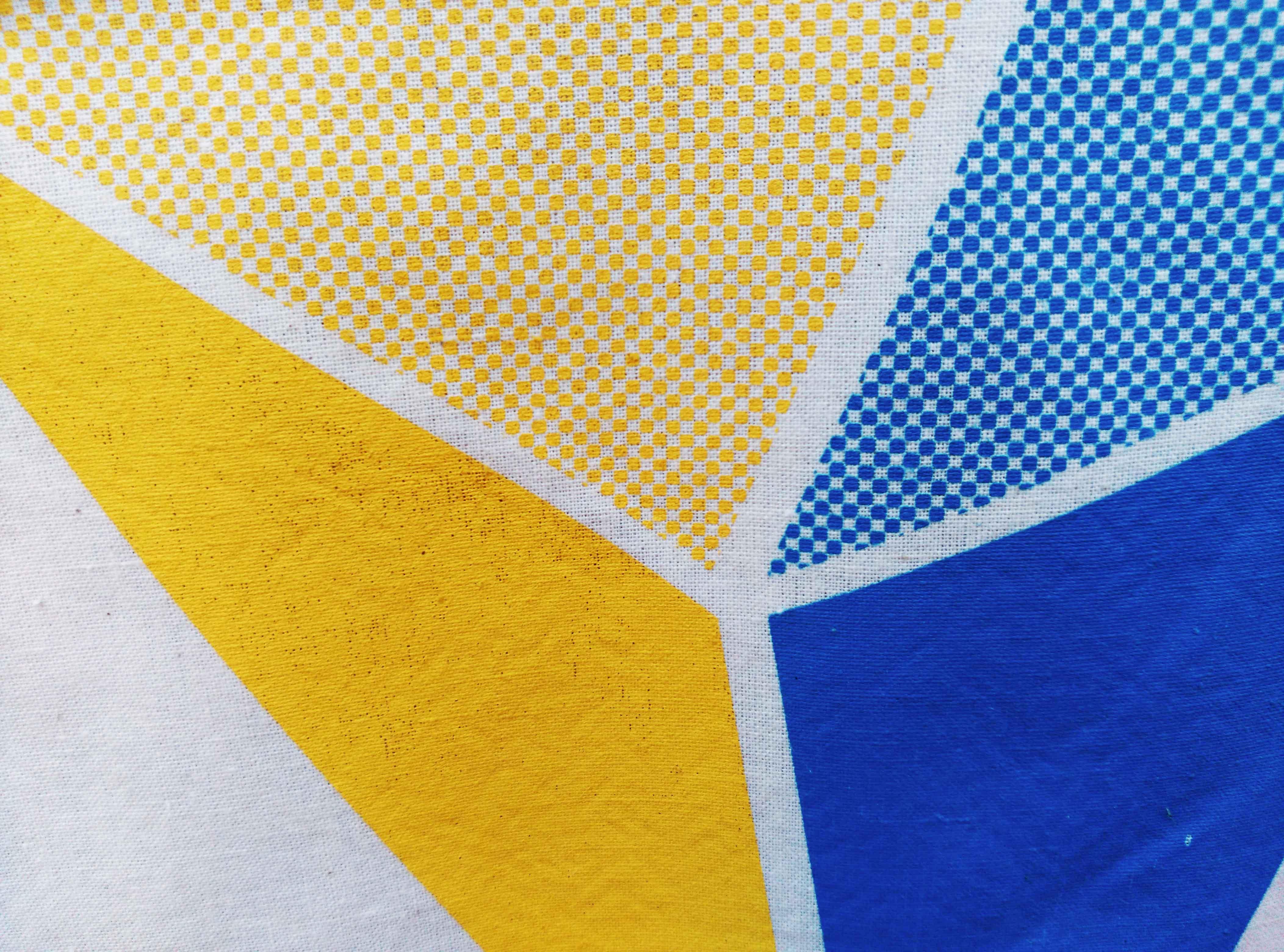 Detalle de serigrafia de la bolsa Iturfest